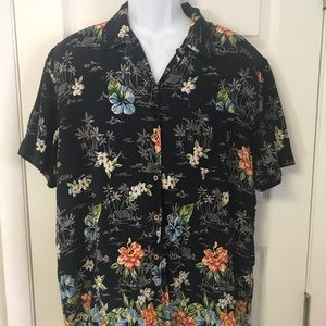 St John's Bay Button Down Hawaiian Shirt Mens XL